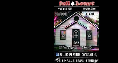 27 oktober Full House dance event in Stiens